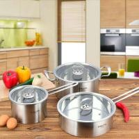 China stright body new type stainless steel cookware set with high quality ,16cm /20cm /24 cm cooking pot,stockpot on sale