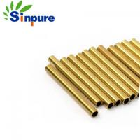 China Small Diameter Thin Wall Brass Copper Tube Pipe Alloy With Smooth Surface on sale