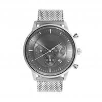 Cheap Light Grey Face Stainless Steel Wrist Watch , Mens Stainless Steel Chronograph Watches for sale