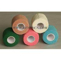 China Easy Tear Colored Self - adherent Cotton Elastic Bandage For Body Parts Wrapping on sale