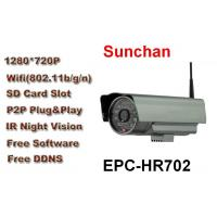 Cheap HD Wireless P2P IP Cam With 32G SD Card , 24 Hour Monitoring for sale