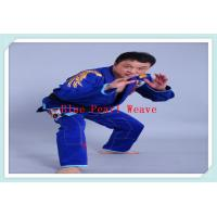 Cheap 100% Cotton Blue jiu jitsu clothing Custom Martial Arts Uniforms for Adults for sale