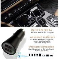 Cheap Dual Usb Car Charger 5V 2.4A Style Quick Charger 3.0 For Mobile Products for sale