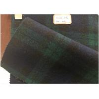 Cheap Green Tartan Fabric 60% Wool , Scottish Plaid Fabric With Horizontal And Vertical Line for sale