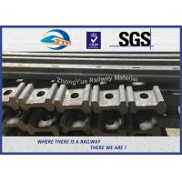 Buy cheap 45# 50# 4 / 6 Hole 136 RE Railroad Joint Bars Angle Bars With Hole Spacing from wholesalers