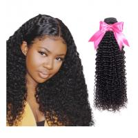 Cheap 22 Inches Bundles With Closure Kinky Curl For Remy Indian Hair Extensions for sale
