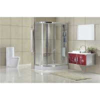 China 6 / 8 mm Clear Tempered Glass D Shaped Shower Screens Shelf Aluminum Alloy For Home on sale