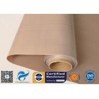 Cheap Brown Food Grade PTFE Coated Fiberglass Fabric 0.16mm 6mil for sale