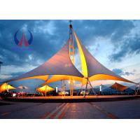 Cheap Heavy Duty Tensile Fabric Structures Large Square Shade Sail Steel Q235 Frame for sale