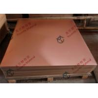 Cheap Customized TU1 TU2 TP1 TP2 Industry Copper Alloy Sheet , 1000mm to 6000mm Length Copper Plate for sale