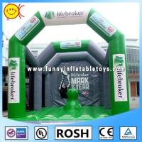 Cheap Green Adult Inflatable Playground Inflatable Structure Hand - Painting for sale
