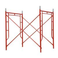 Cheap Red Powder Coated Tubular Steel Frame Scaffolding 1524 x 1524 mm for sale