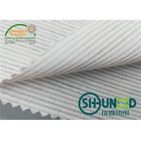 Cheap Smooth Canvas Interlining For Tailoring Materials / Men Suits Fusible Interlining Fabric for sale