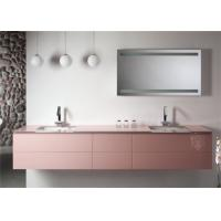 Cheap Hanging Design Pink Prima Vanity Mirrored Bathroom Wall Cabinets Ceramic Basin for sale