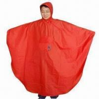Cheap Poncho for Bike, Waterproof, with PU Coating for sale