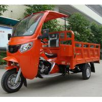 Gasoline 200CC Cargo Tricycle / Chinese Cargo Trike With Open Driver Cabin