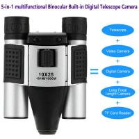 Cheap DT08 Binocular Built-in Digital Telescope Camera Far Shoot 1.3MP Video Recorder 10x25 101M/1000M outdoor camping hiking for sale
