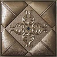 Cheap Leather Modern 3D Wall Panels Moisture Proof WIth Highly Embossed for sale