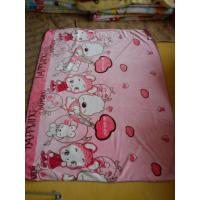 Cheap Pink Car Soft Polyester Baby Blanket Superfine Fiber For Home / Picnic for sale