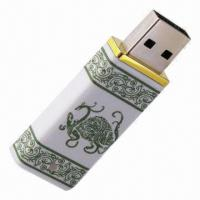 Cheap Blue/White Porcelain USB Flash Drive with 1 to 32GB Capacity, 2U0002 for sale