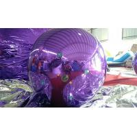 Cheap 1M Inflatable Mirror Ball Balloons With Logo Printed Purple And Blue for sale
