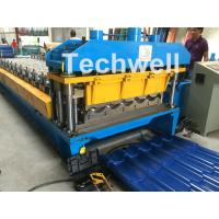 Cheap 3D Step Tile Roll Forming Machine , Glazed Roof Panel Roll Forming Machine for sale