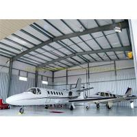Cheap Large Span Structurel Steel Airplane Hangars With Frame Use Life 50 Years for sale