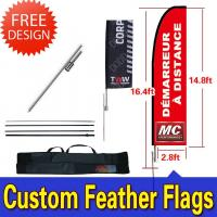 Cheap Windchaser Feather Flags Banner with fiberglass pole , cross base and carry bag for sale