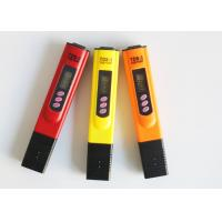Cheap Red Orange Yellow White Blue TDS Meter Tester , Water Purity Test Meter for sale