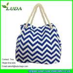 Cheap LUDA discount purses latest handbags cute blue chevron wave  canvas shopping bag for sale