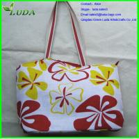 Cheap Reusable bulk plastic beach straw bag with customized printing for sale