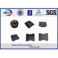 Quality Railway Track Pad Plastic And Rubber Part EVA HDPE Black Surface wholesale