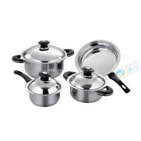 7pcs Induction Bottom Steel Cooking Pot With Certificate