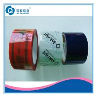 Cheap Custom Printed Packing Tape , White / Blue Tamper Evident Security Tape for sale