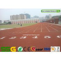 Cheap Weather Resistant Synthetic Running Track Flooring for School / Rubber Gym Floor for sale