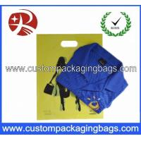 Cheap Green Grocer Die Cut Handle Plastic Bags With Hole For Packing Garment for sale