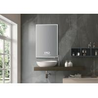 Cheap Flat Light Up Bluetooth Mirror / Wall Mounted Bathroom Vanity Mirror With Lights for sale
