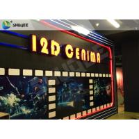 Cheap Entertaining 5D Cinema Seats With Motion Effect / Electric System For Amusement Park for sale