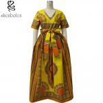 Cheap Modern African Print Dresses Dashiki For Elegant V - Neck Classical Print Sleeveless for sale