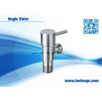 China Sanitary Ware Bathroom Accessories Toilet Brass Angle Valve With Round Quick Opening Handle on sale