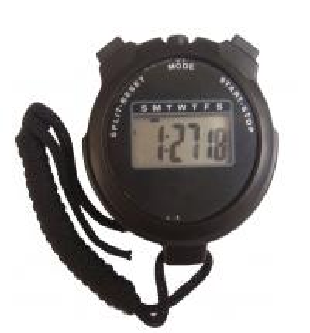 Cheap Black Handheld Digital Sport Stopwatch LCD Chronograph Timer for sale