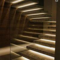 China Luxury Australian style high quality fashion glass-wood staircase used straight stair on sale