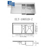 Cheap Topmount Stainless Steel Sink with Drainboard wholesale