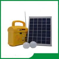 Buy cheap Mini solar energy system, 10w solar home lighting kits with phone charger, radio, MP3 for best selling from wholesalers