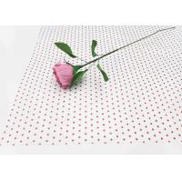 Buy cheap 17gsm Waxed Wrapping Dotted Tissue Paper Foil Tissue Paper Sheets Metallic Red from wholesalers