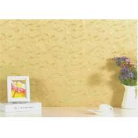 Cheap Golden Yellow , Self Adhesive Textured Wallpaper , 122cm/ 60cm x /50m/100m for sale
