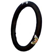 China carbon fiber steering wheel cover on sale
