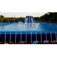 Cheap Outdoor Durable 0.9mm PVC Tarpaulin Metal Frame Swimming Pool For Water Park for sale