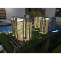 Cheap 1/75 Scale Architectural House Models Builder With Light / High Rise Scale Residential Maquette for sale