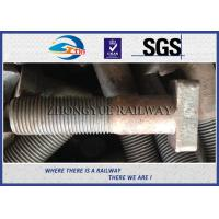 Cheap Customized M22X90mm Railway Bolt T-Shaped Track Bolts With Oiled Plain Colors for sale